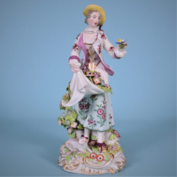 Chelsea Figure of a Shepherdess