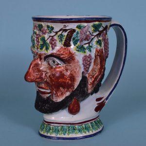 Large Staffordshire Satyr Mug.