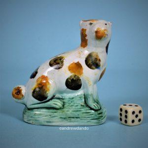 Early Staffordshire Pottery Pug Dog.