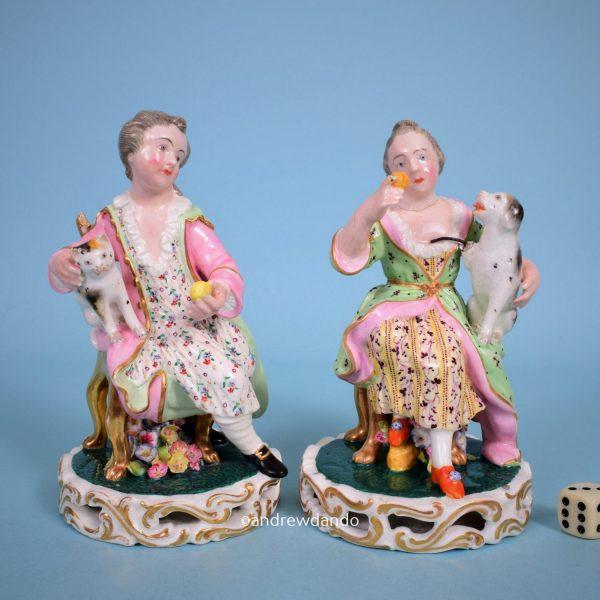 Pair of Derby Figures of Children (r)