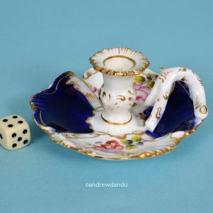 English Porcelain Miniature Chamberstick