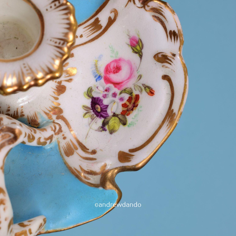 English Porcelain Miniature Chamberstick