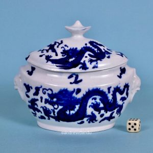 Coalport Blue Dragon Sucrier.