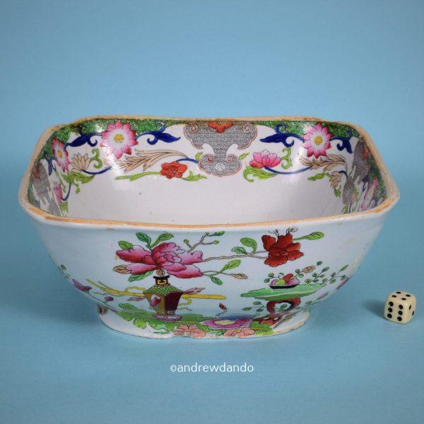 Masons Patent Ironstone China Salad Bowl.