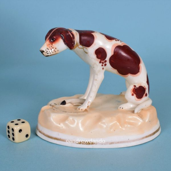 Staffordshire Seated Hound.