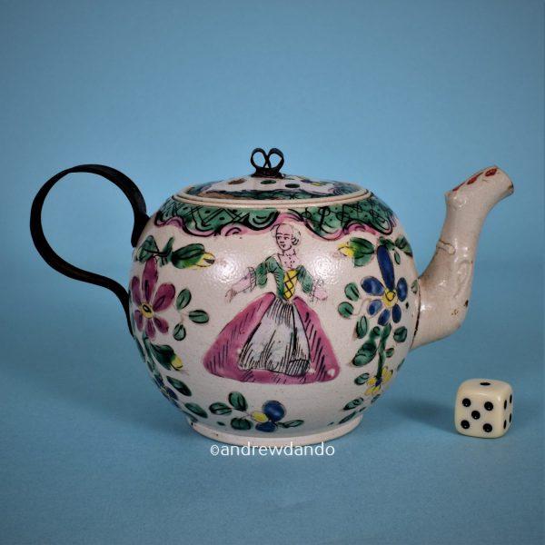 Staffordshire Saltglaze Teapot.