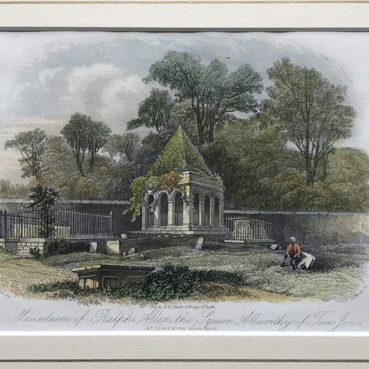 MAUSOLEUM of RALPH ALLEN [Bath], C19th Engraving.