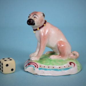 Derby Porcelain Pug Dog