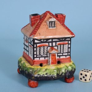 Staffordshire Pottery Cottage Pastille Burner.