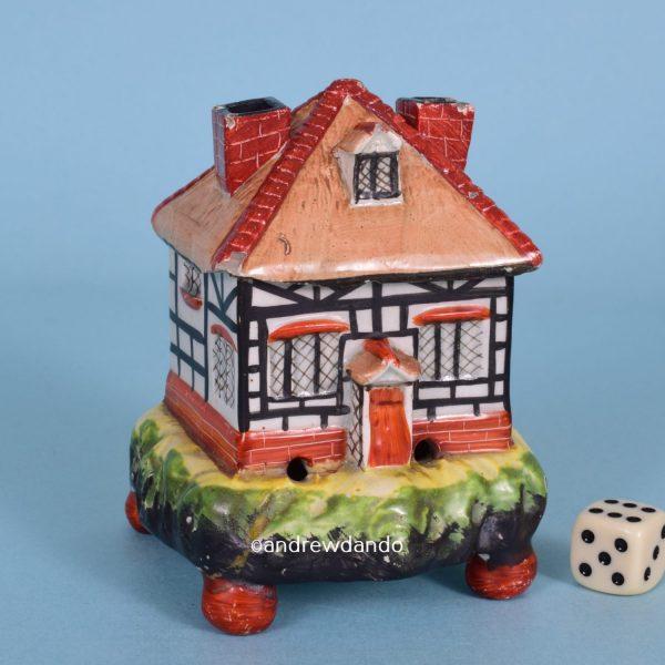 Staffordshire Pottery Cottage Pastille Burner.
