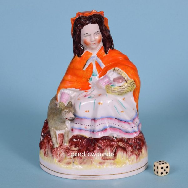 Staffordshire Figure of Little red Riding Hood.