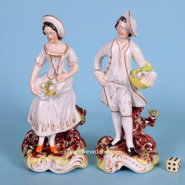 Pair of Victorian Staffordshire Figures.