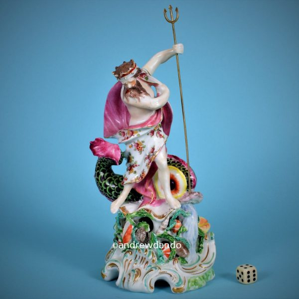 Derby Porcelain Figure of Neptune