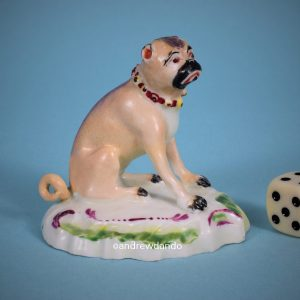 Derby Porcelain Pug Dog (r)