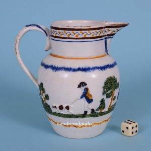 Pratt Ware Jug with Shooting Scene