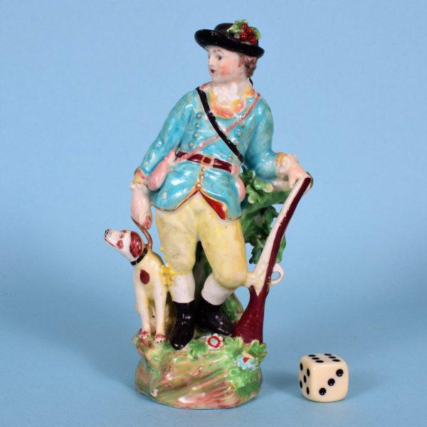 Chelsea-Derby Figure of a Hunter.