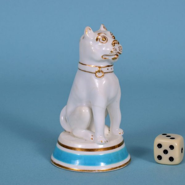 Porcelain Dog Pepper Pot