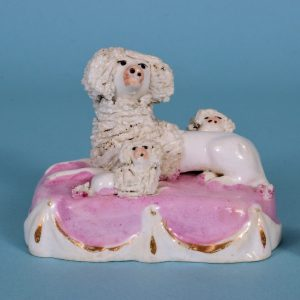 Staffordshire Poodle with Puppies.