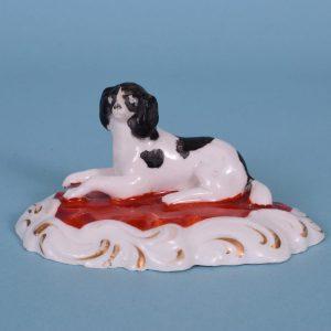 Staffordshire Porcelain Spaniel.