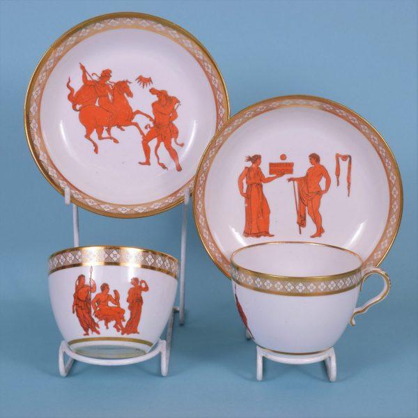 Pr Spode Tea Cup & Saucers.