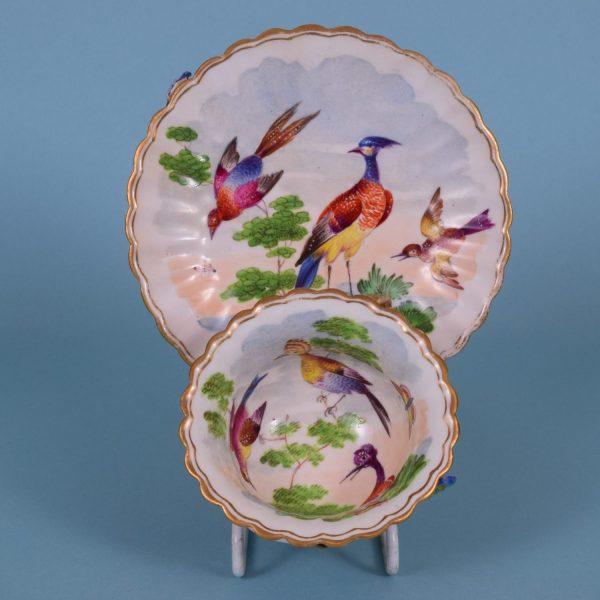 Bird Decorated Cup & Saucer.