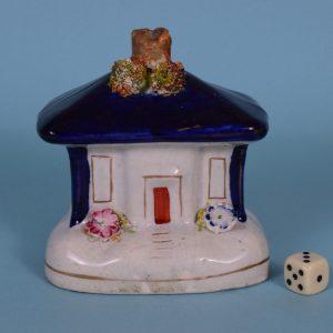 Victorian Staffordshire Cottage Money Box