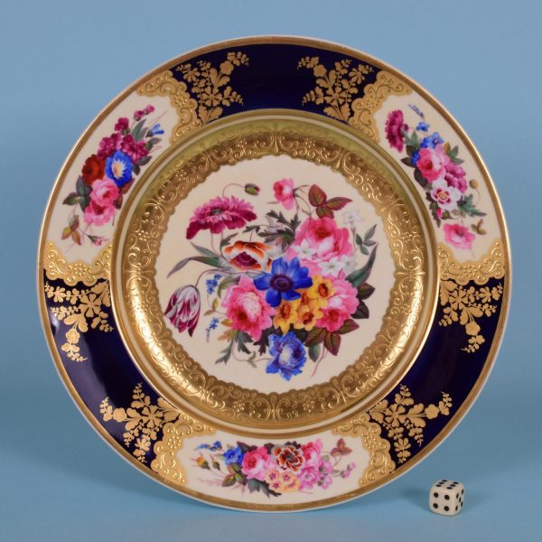 Chamberlains Worcester Cabinet Plate.