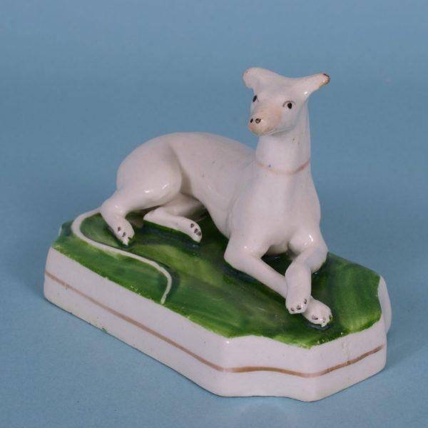 Staffordshire Porcelain Whippet.
