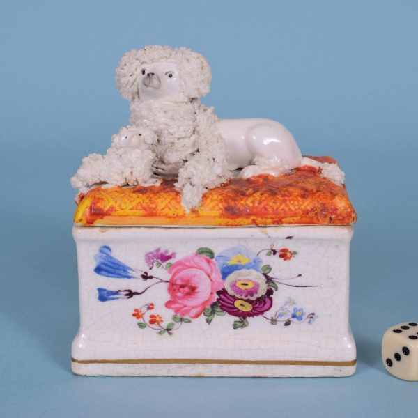 Staffordshire Poodle 'Trinket Box'.