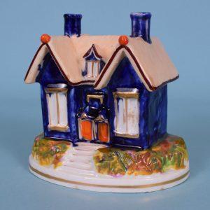 Staffordshire Cottage Pastille Burner, c1840.
