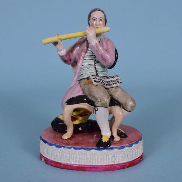 Staffordshire Pearlware Flautist.