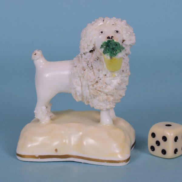 Samuel Alcock Porcelain Poodle.