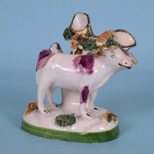 Pottery Cow with Spill Holder.