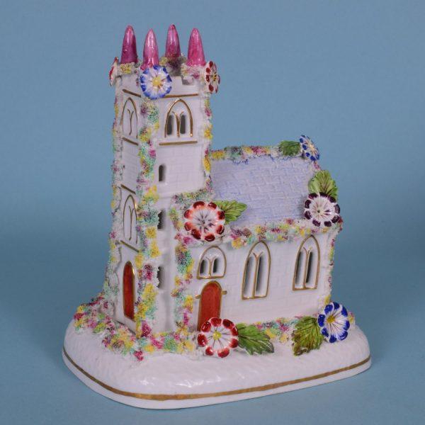 Staffordshire Porcelain Church - Pastille Burner