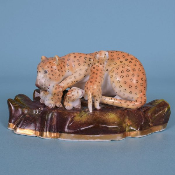 Staffordshire Leopardess with Cubs