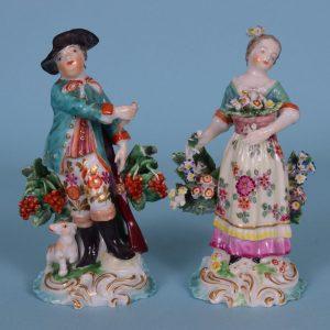 Pair of Derby Porcelain Seasons.