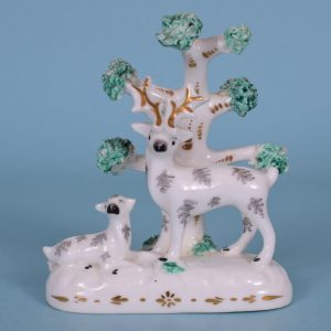 Staffordshire Porcelain Miniature Stag.