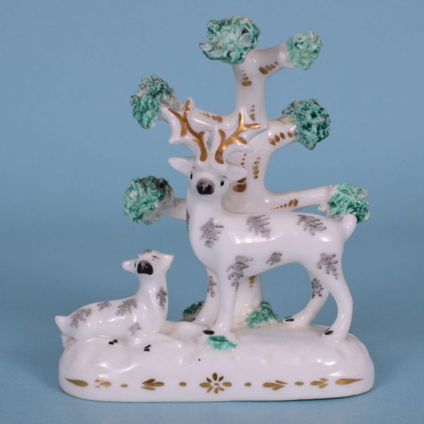 Staffordshire Porcelain Miniature Stag.