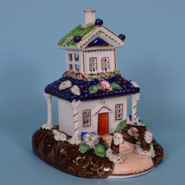 Staffordshire Cottage with Rose Arch.
