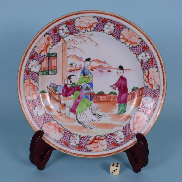 Chinese Export 'Mandarin' Plate (a)
