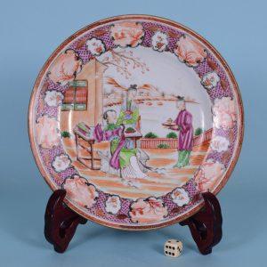 Chinese Export 'Mandarin' Plate