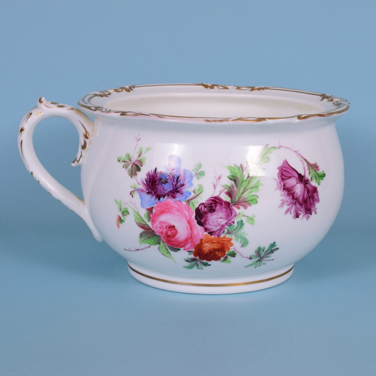 Pair of English Porcelain Chamber Pots, c1850