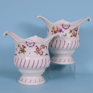 Pair of Vienna Porcelain Wine Bottle Coolers.