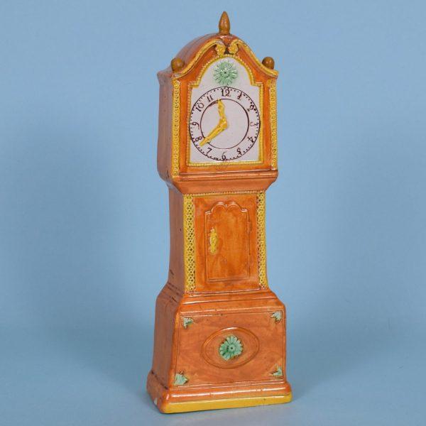 Pratt ware longcase clock.