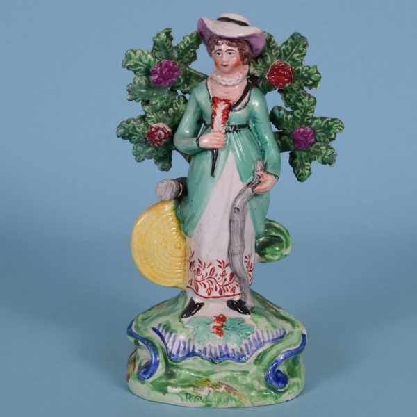 Staffordshire Figure of a Lady Archer