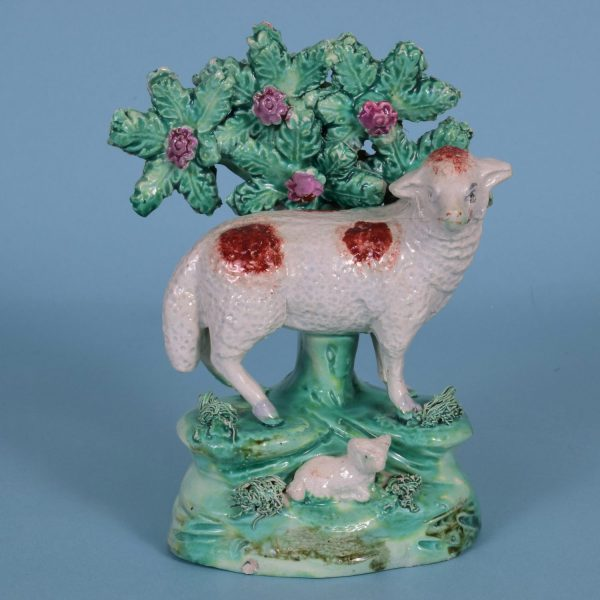 Staffordshire Sheep & Lamb by R. Salt.