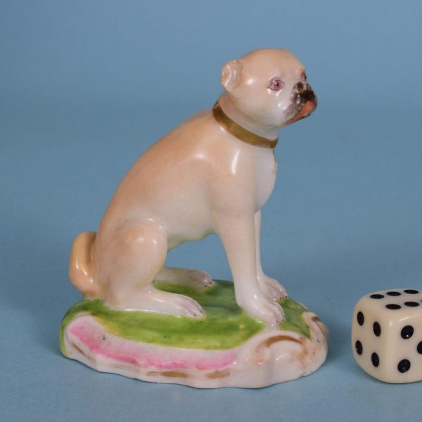 English Porcelain Pug Dog.
