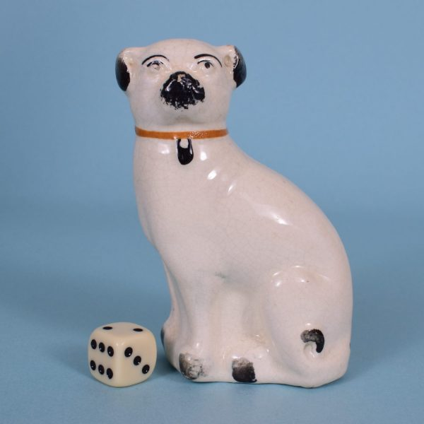 Victorian Pottery Pug Dog.
