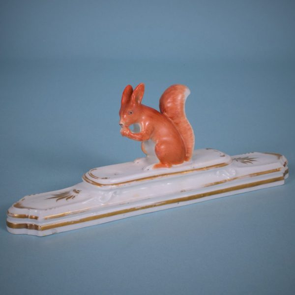English Porcelain Squirrel Paperweight