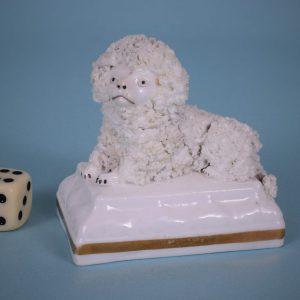Staffordshire Poodle on Moulded Base.